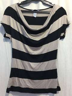 H&M Blouse / Stripe / Plunging / Top