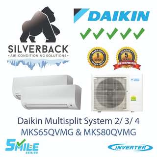Daikin Smile Series (5 tick) Inverter Aircon Installation included MKS65QVMG / MKS80QVMG