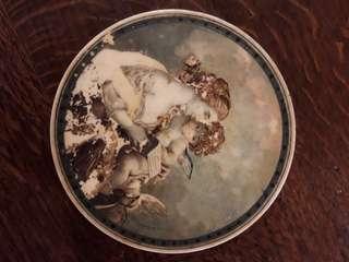 🚚 法國古董 手繪古董粉盒