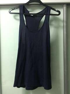 Navy blue basic tank top