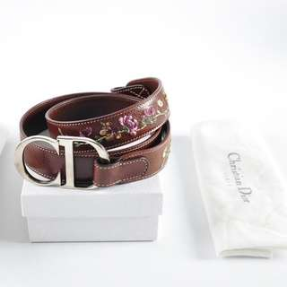 AUTHENTIC DIOR LEATHER BELT - SIZE: 90 CM