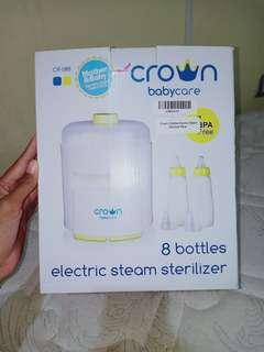 Crown 8 Bottle Electric Steam Sterilizer - Blue