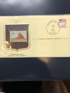 Clearing Stocks: USA 1962 New Mexico Statehood Stamp on 1987 Historical Stamps of America Souvenir Cover