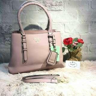 Prada Saffiano Tote Bag Dusty Pink Color