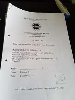 P6 top school english past year ques papers - Set 1 (23 in total)