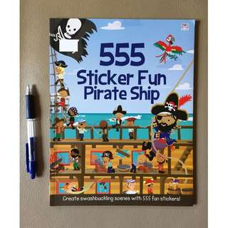 555 Sticker Fun Pirate Ship - sticker book