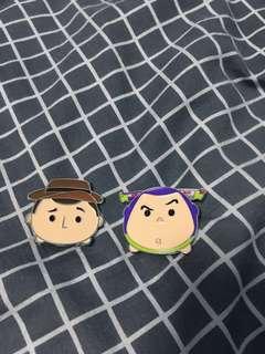 Disney 迪士尼 徽章 tsumtsum toys store Pins 胡廸 巴斯光年