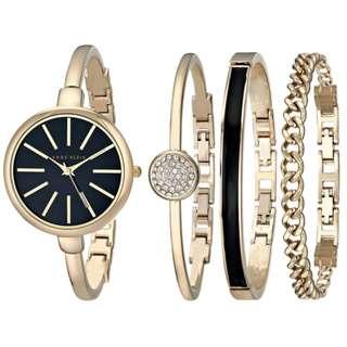 [Clearance] Anne Klein Women's AK/1470 Bangle Watch and Bracelet Set