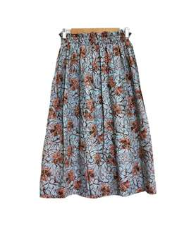 Vintage 古著花系列長裙(平量尺寸cm)