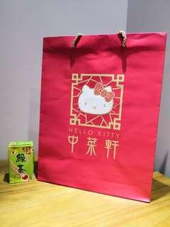 Hello kitty中華軒紙袋