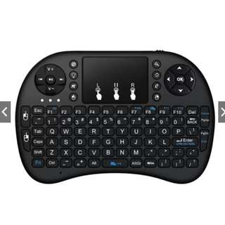 *FREE MAILING*INSTOCKS*Wireless Rechargeable Air Mouse Mini Keyboard - Black