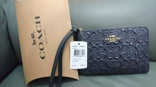 Coach Leather Coin Zip wallet