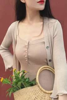 korean summer knitted dress
