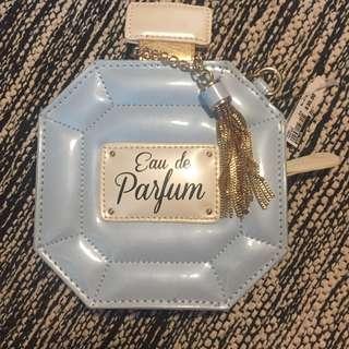 Aldo BNWT crossbody perfume bottle clutch (Chanel inspired)