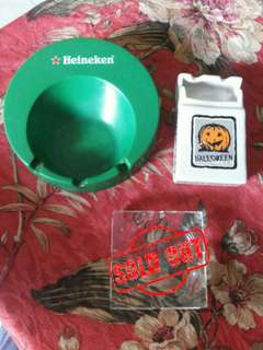 Take it All Asbak Melamine Heineken dan Keramik Hollowen Unik