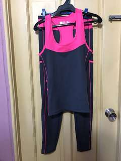 Free Size Pink Legging and Top Set