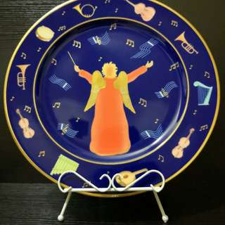 Bvlgari music angel decor plate