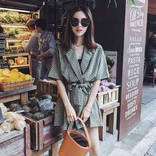 Korean jumpsuit dress office lady casual style