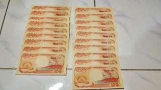 Uang Kuno 100 Rupiah Edisi Perahu layar Tahun 1992