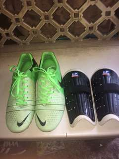 football shoes with free shin guard