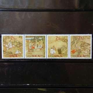 [lapyip1230] 澳門 1985年 賈梅士博物館25年 新票全套(四連印) MNH