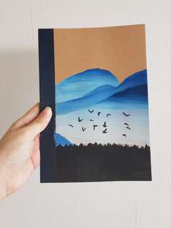 [CUSTOMISE] Watercolour Scenery Notebook