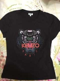 New Auth Kenzo Tiger classic Tshirt Dark Plum Orange M