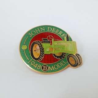 約翰迪爾拖拉機徽章 John Deere Tractor Lapel Pin