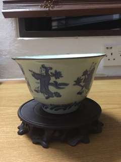 Antique chinese bowl with stand