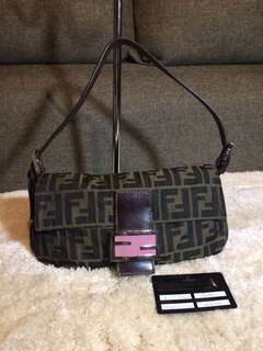 Authentic Fendi Shoulder Bag With Card