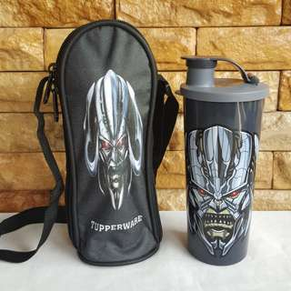 Transformers tumbler with pouch