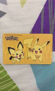 Pokémon limited edition Ezlink card.