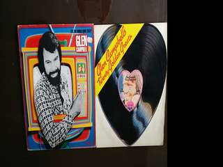 GLEN CAMPBELL. it's the world gone crazy / 20 golden hits ( buy 1 get 1 free )  vinyl record