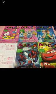 Instock 5in1 Coloring /activity abc and 123 book w stickers on the center page. . Brand new