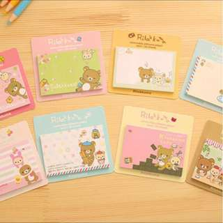 🌟BN INSTOCK Rilakkuma Sticky Notes Memo Pad