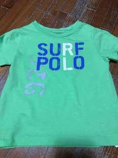 Authentic Polo Ralph Lauren green tee (18m)