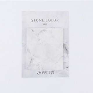 🌟BN INSTOCK Grey Marble Stone Color Sticky Notes Pad