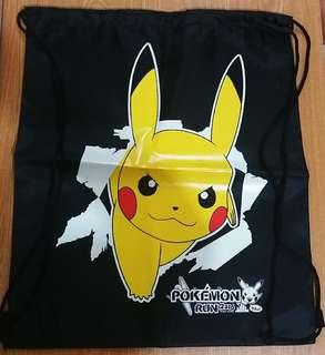比卡超黑色索繩背囊Pokémon Run紀念品