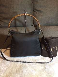 Authentic Gucci Bamboo Two Way With Dustbag