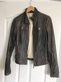 Leather jacket size 2XS