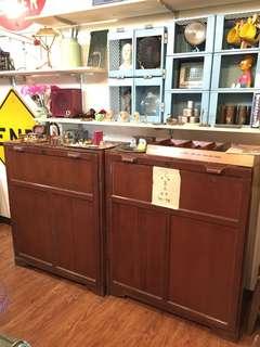台鐵售票櫥-檜木-完整含門