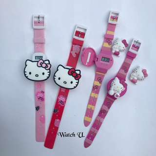 現貨免運!! 正版Hello kitty 三麗鷗授權 兒童手錶 電子錶 雷射標章