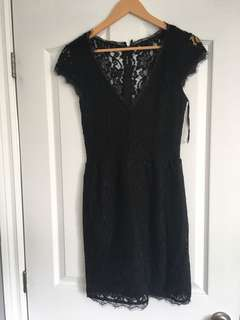Black lace dress size 4