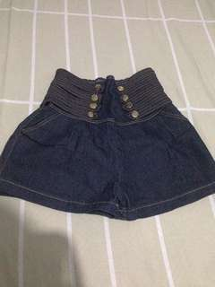 Stretchable high waisted short