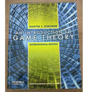 An Introduction to Game Theory (International Edition)