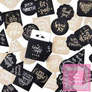 Set of 45pcs Good Night And Message Before You Sleep Sticker Pack