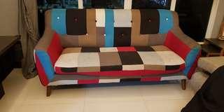Retro patch sofa