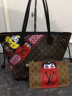 ramadhan sale! lv neverfull kabuki mirror replica bag