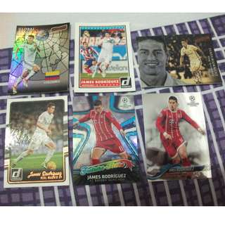 James Rodriguez Topp/Panini trading cards for trade/sale (Lot of 6 cards)
