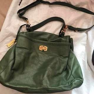 減價 Rabeanco 綠色皮袋